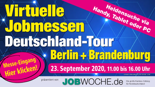 Virtuelle Jobmessen Deutschland-Tour Berlin + Brandenburg 23. September 2020