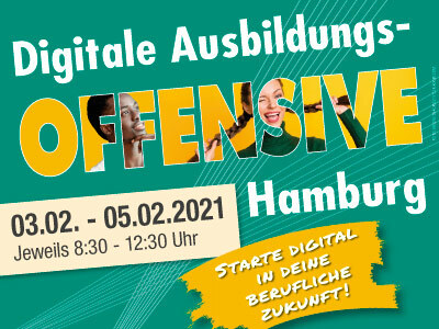 Digitale Ausbildungs­offensive 2021 Hamburg