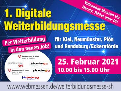 1. Digitale Weiterbildungsmesse für Kiel, Neumünster, Plön und Rendsburg / Eckernförde