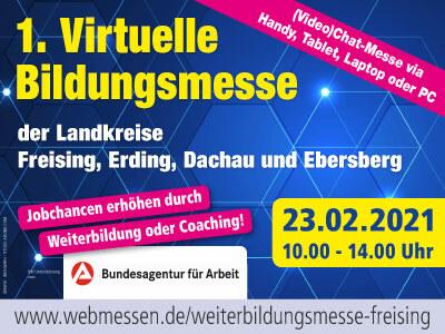 1. Virtuelle Bildungsmesse der Landkreise Freising, Erding, Dachau und Ebersberg