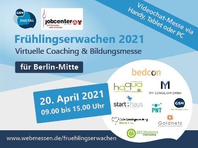 Frühlingserwachen 2021 | Virtuelle Coaching & Bildungsmesse für Berlin-Mitte